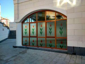 Sultanbeyli Merkez Camii Şeffaf Dekor Baskı