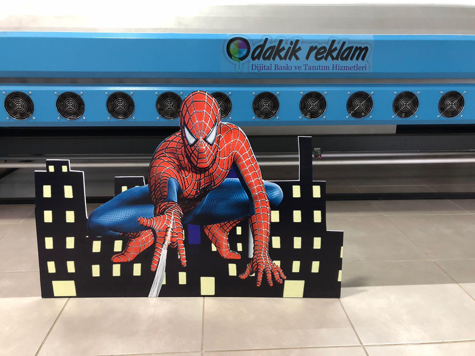 Doğum günü örümcek adam pano
