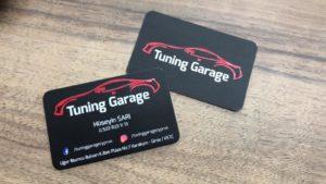 Tuning Garage Özel Kesim Laklı Kartvizit
