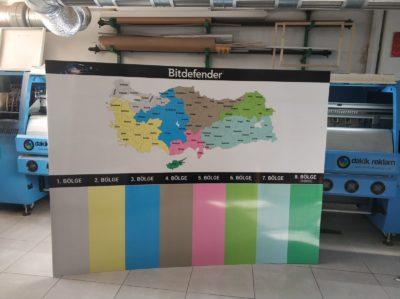 Ayaklı Dekota Harita Baskı