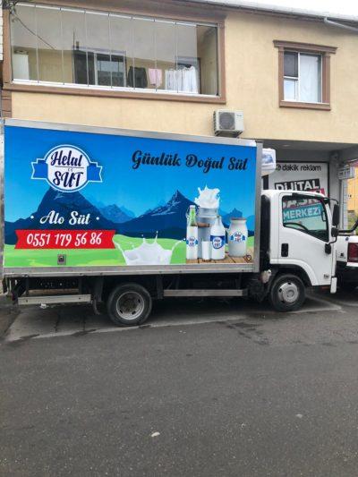 Helal Süt Kamyonet Reklam