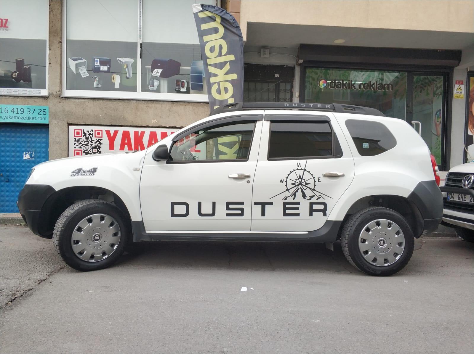 Duster folyo kesim araç logo