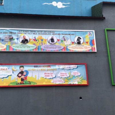 Ali kuşçu okulu afiş baskı