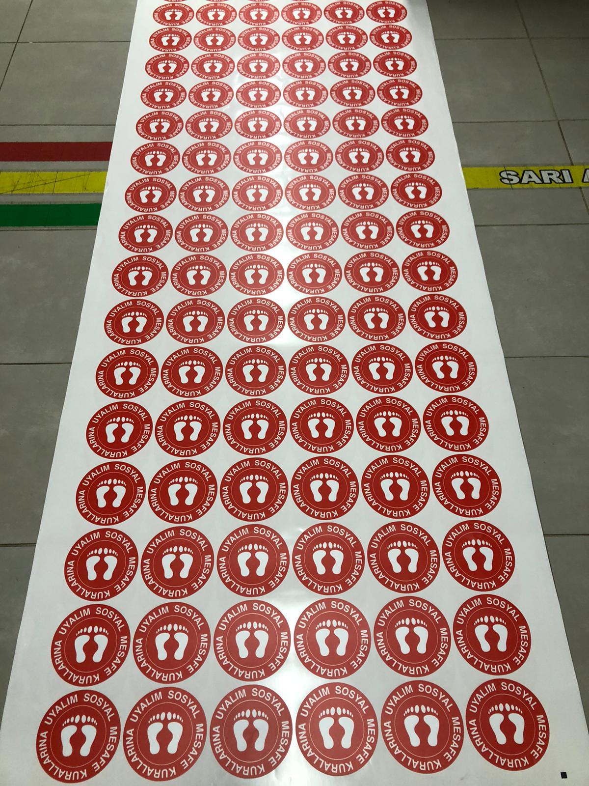 Bas Kes Sticker Sosyal Mesafe