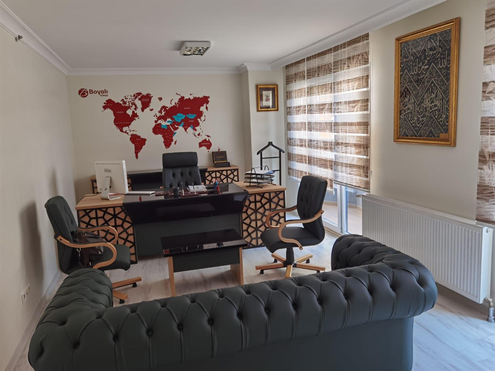 Ofis Dekor Dünya Haritası Bas kes