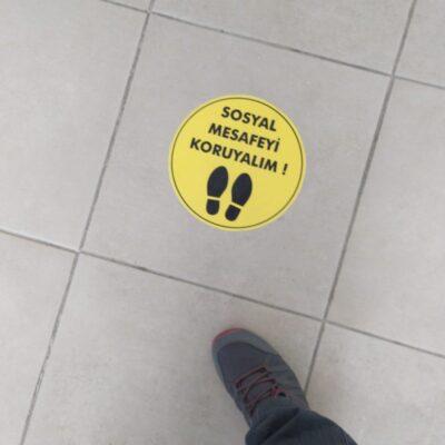 Mesafe uyarı etiket