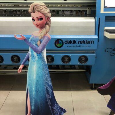 Elsa maket ayaklı karlar ülkesi