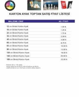 Karton Ayak Fiyatları