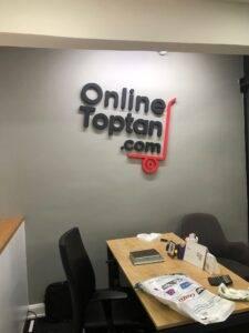 Ofis Logo Strafor Boyalı